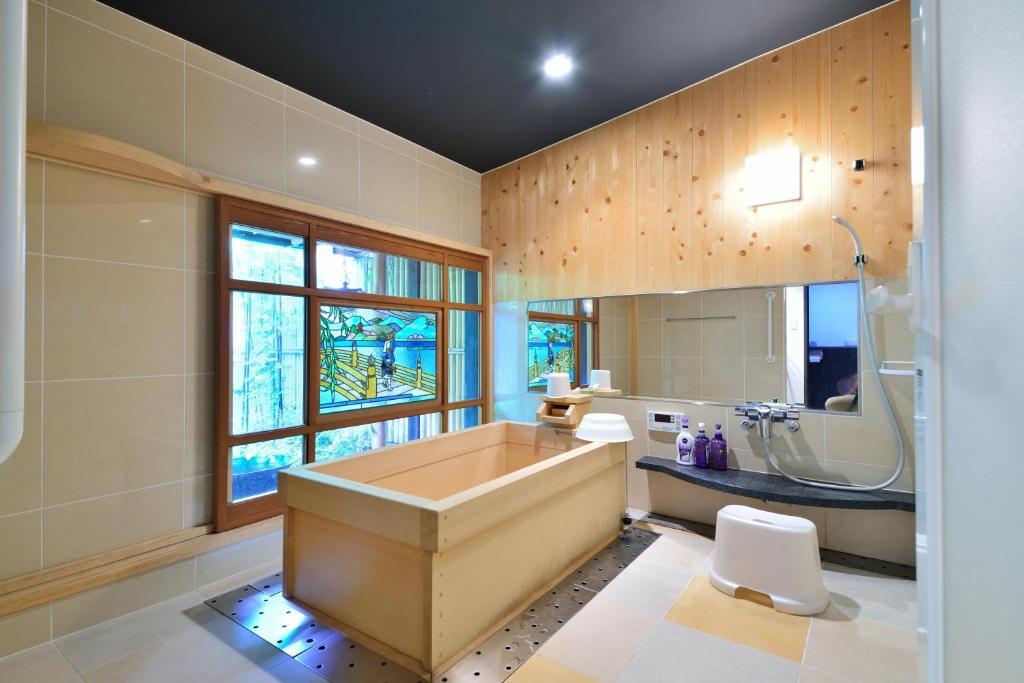 A bathroom at Takeya Kitano Honkan
