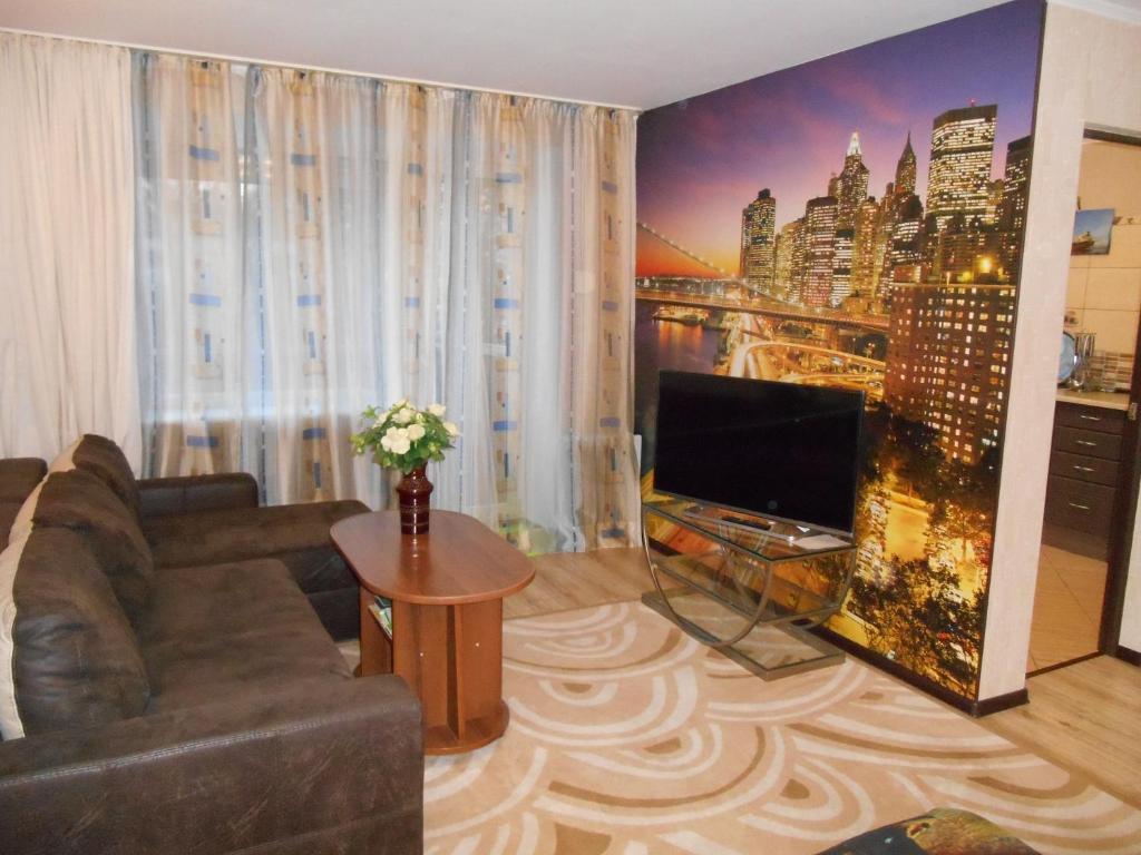 Телевизор и/или развлекательный центр в Апартаменты на Ул. Черняховского 18