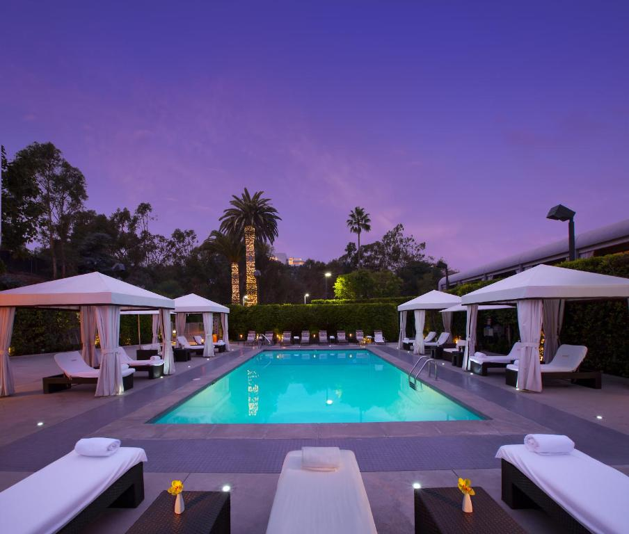 The swimming pool at or near Luxe Sunset Boulevard Hotel