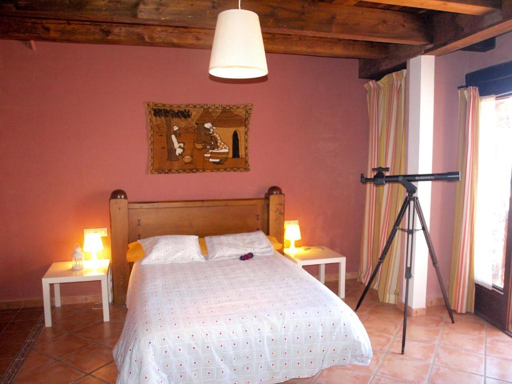 Cama o camas de una habitación en Apartamentos Valdelinares