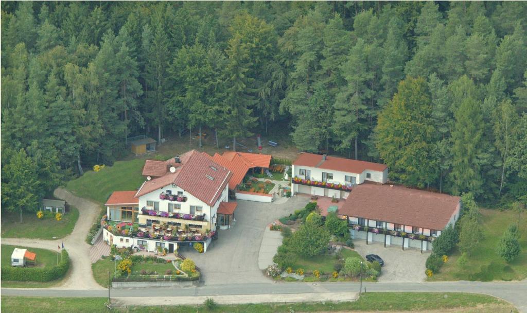 Landhotel Waldesruh с высоты птичьего полета