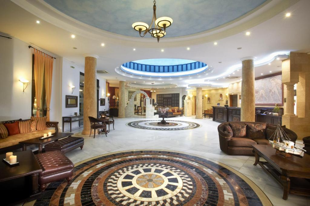 The lobby or reception area at Acrotel Athena Pallas