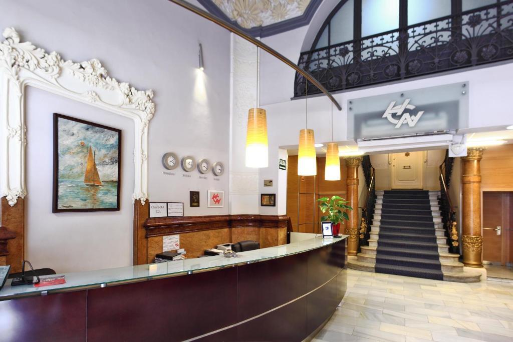 The lobby or reception area at Cuatro Naciones