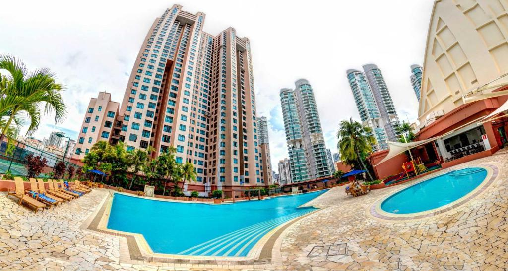 The swimming pool at or near Great World Serviced Apartments (SG Clean)