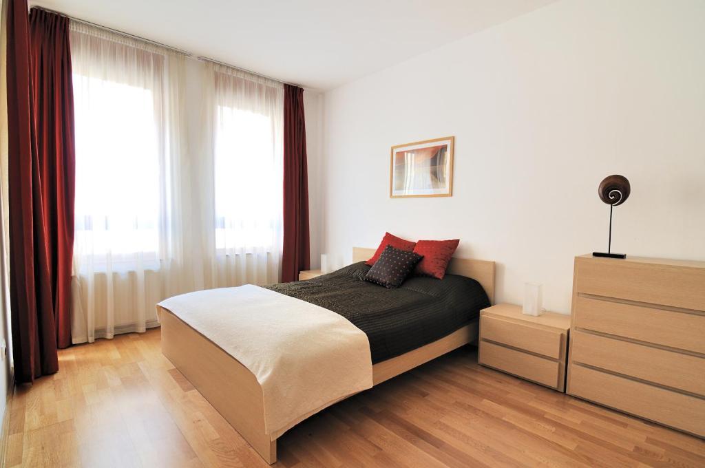 Cama o camas de una habitación en Leda Apartments