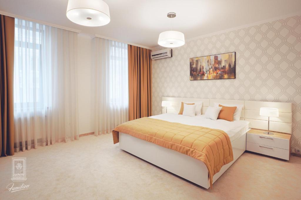 Lova arba lovos apgyvendinimo įstaigoje Familion ApartHotel