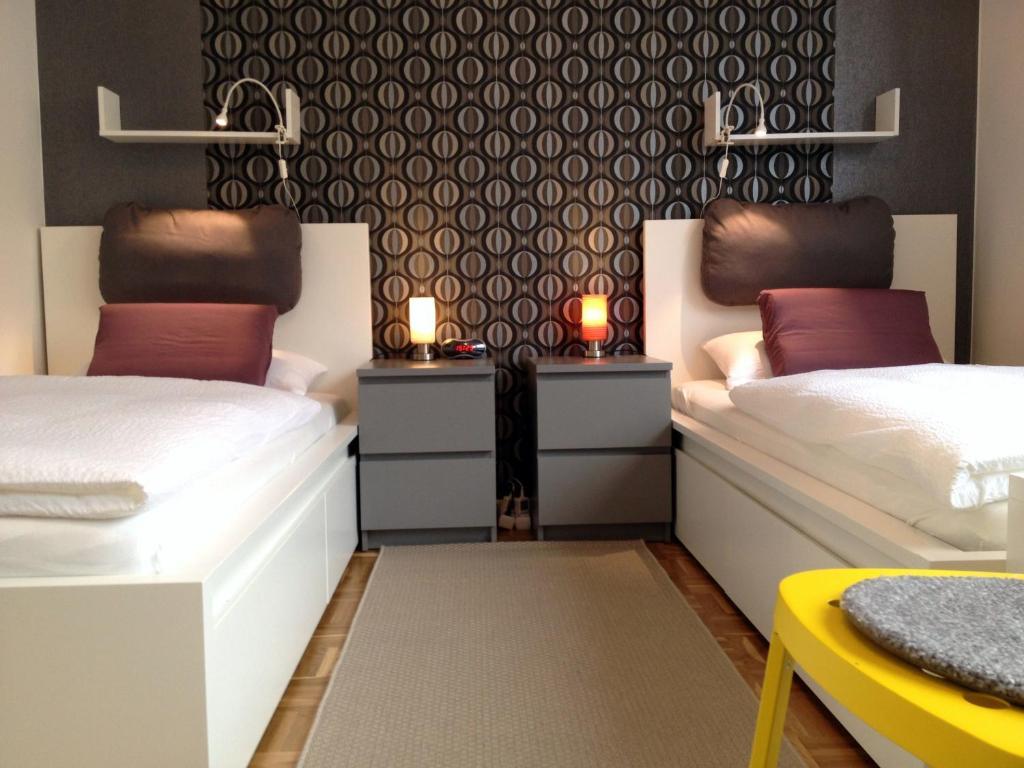 Ein Bett oder Betten in einem Zimmer der Unterkunft HertenFlats - Rooms & Apartments - Kreis Recklinghausen
