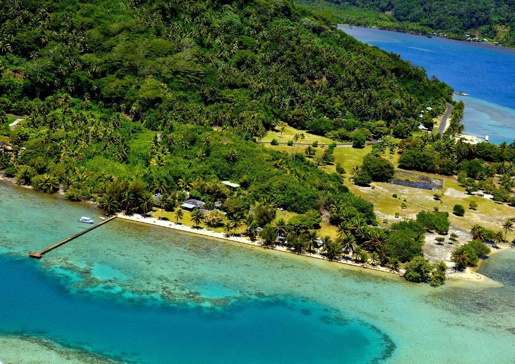 Uma vista aérea de Hôtel Atiapiti