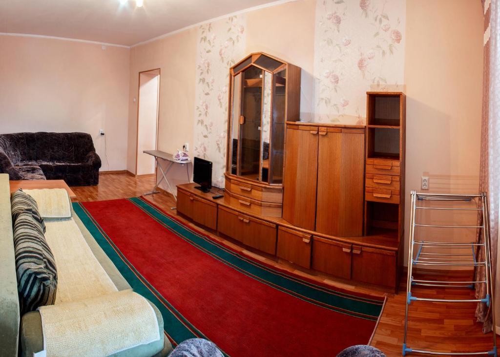 Гостиная зона в Dekabrist apartment on Anokhina 120A