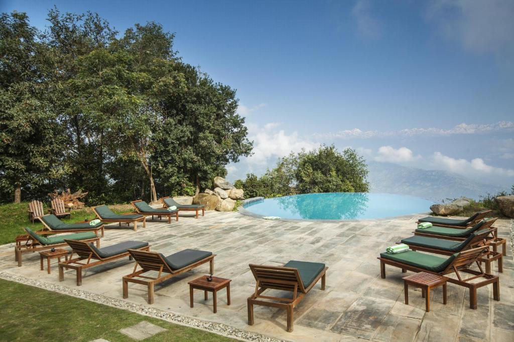 The swimming pool at or near Dwarika's Resort - Dhulikhel