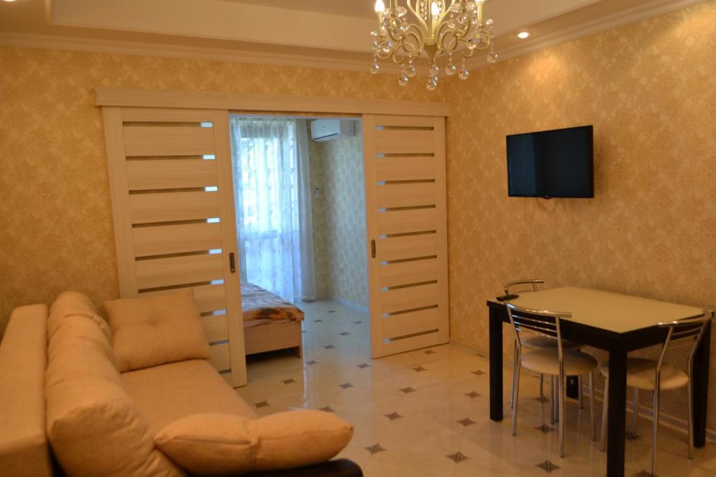Гостиная зона в Apartment Versal Na Nesebrskoy