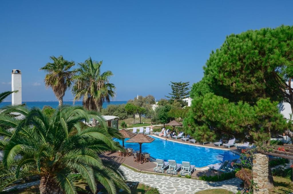 A view of the pool at Alkyoni Beach Hotel or nearby