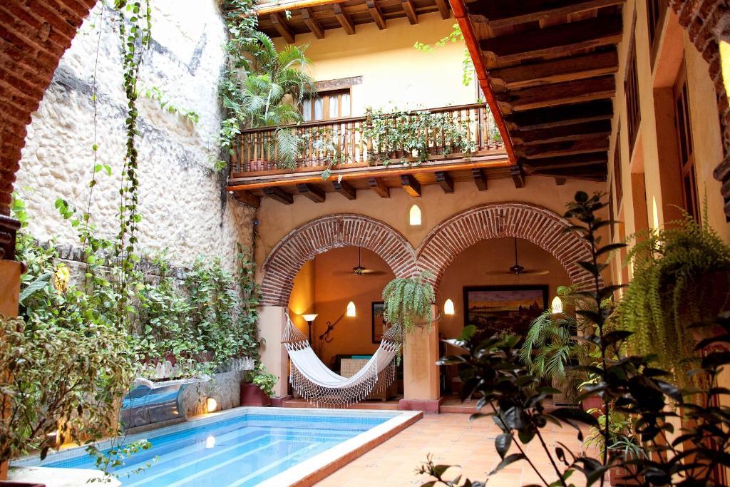 The swimming pool at or near Casa India Catalina
