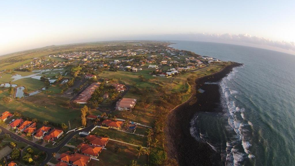 A bird's-eye view of Coral Cove Resort