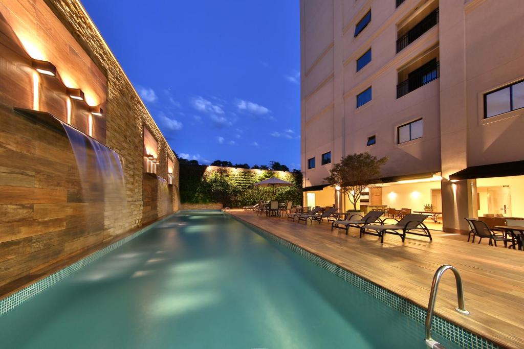 The swimming pool at or near Hotel Mont Blanc Premium