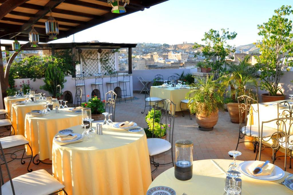 Restaurace v ubytování Riad Andalib