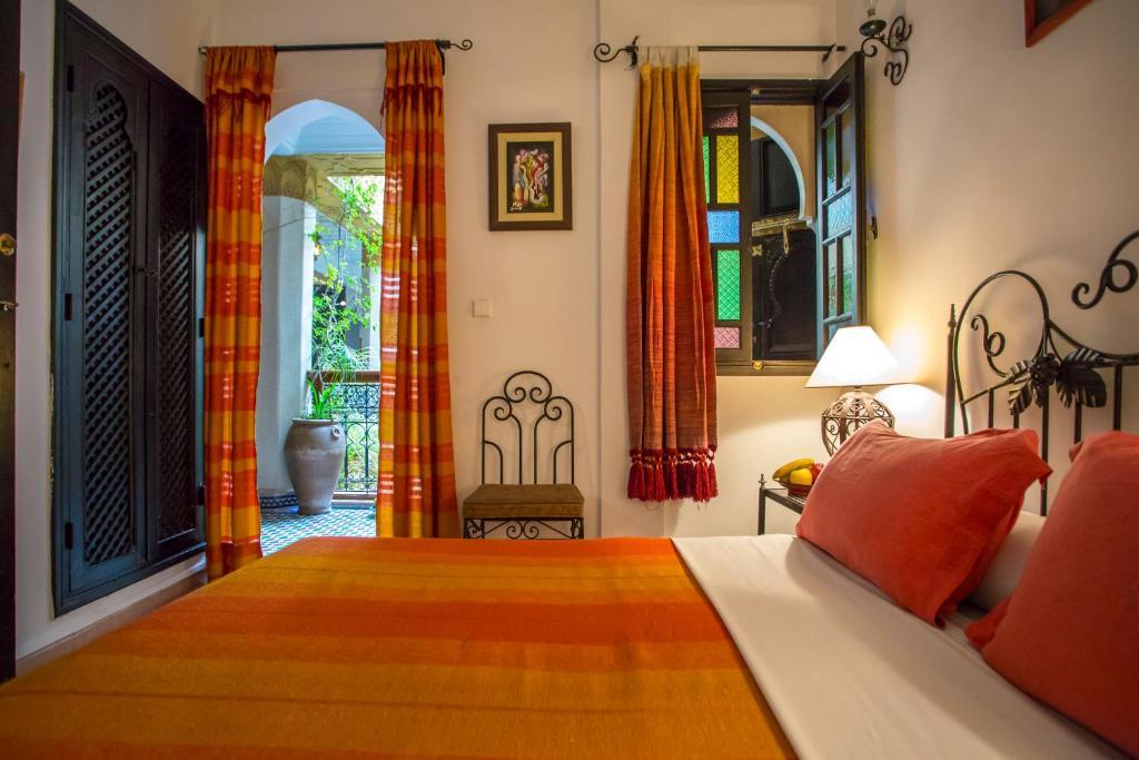 Cama o camas de una habitación en Riad Jnane Mogador