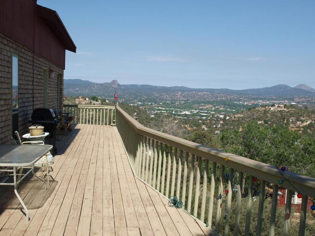 A balcony or terrace at Chisolm Trails End B&B