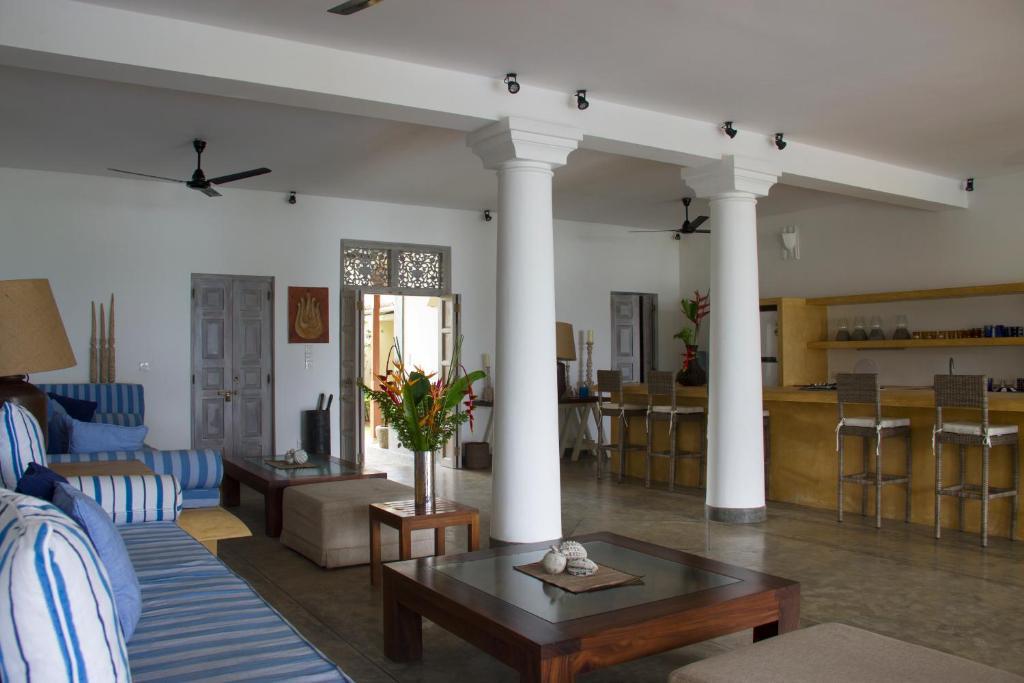 A seating area at Villa Nilaya