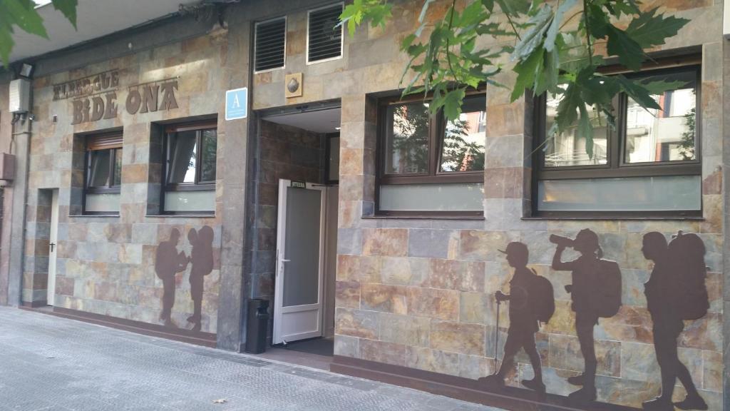 The facade or entrance of Albergue Bide-Ona