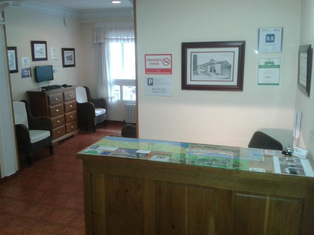 El vestíbulo o zona de recepción de Hospedaje Magallanes