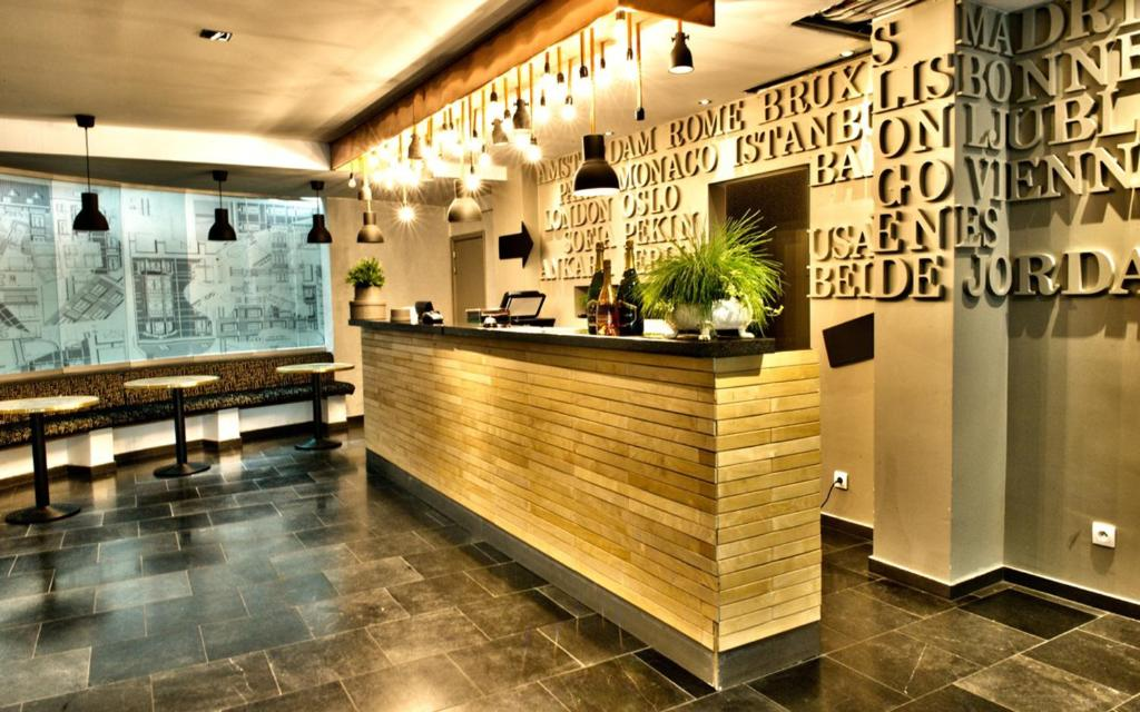 The lobby or reception area at Hotel Aviation