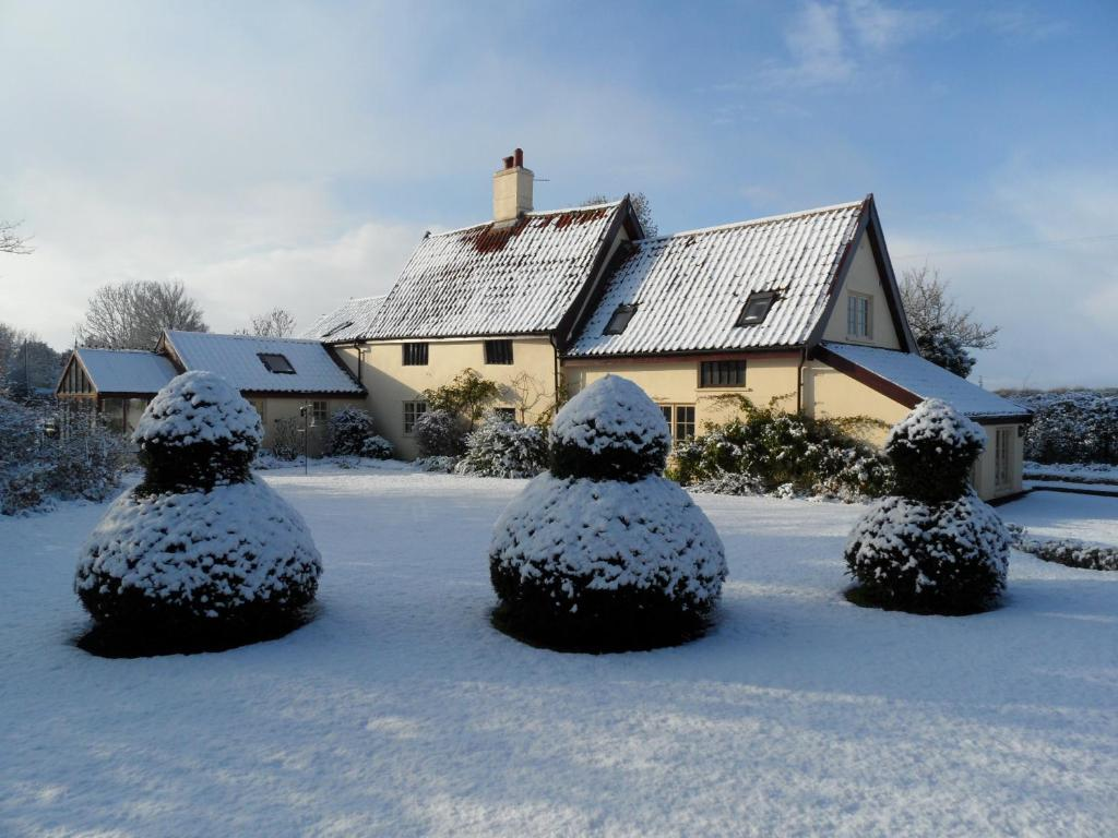 Holly Tree House Bed & Breakfast during the winter