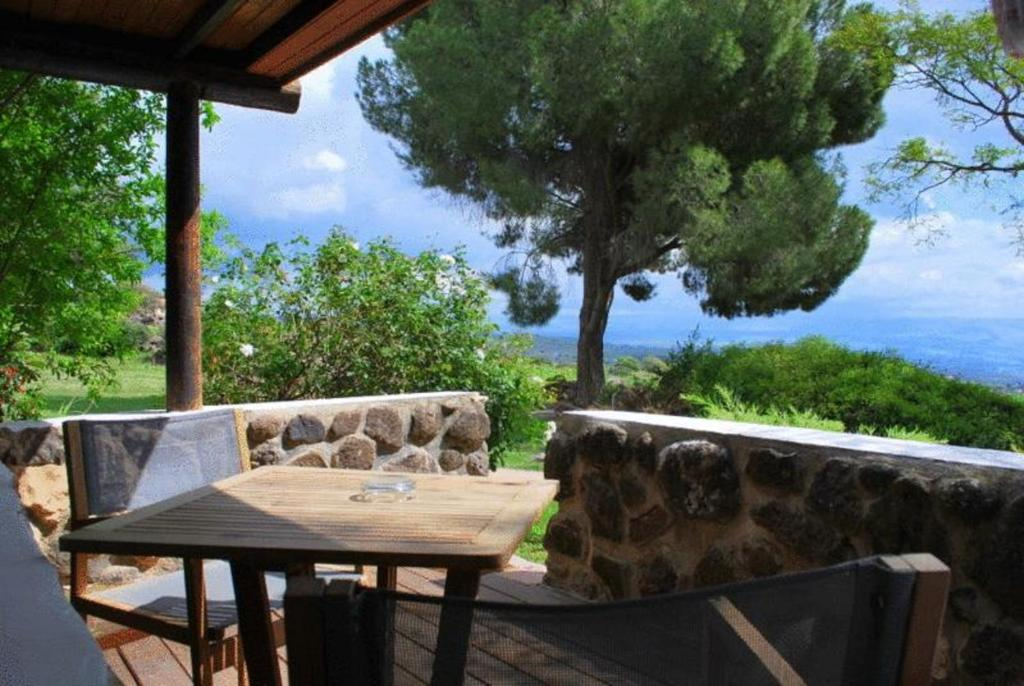 A balcony or terrace at Vered Hagalil Holiday Village Hotel
