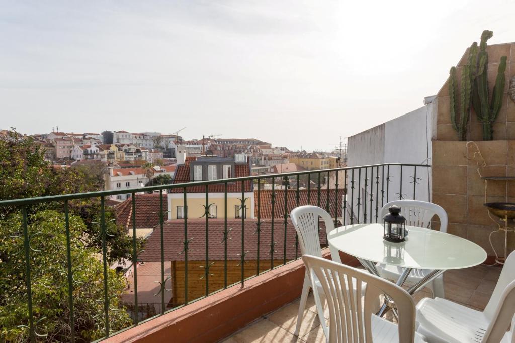 A balcony or terrace at Arty Hostel Lisbon