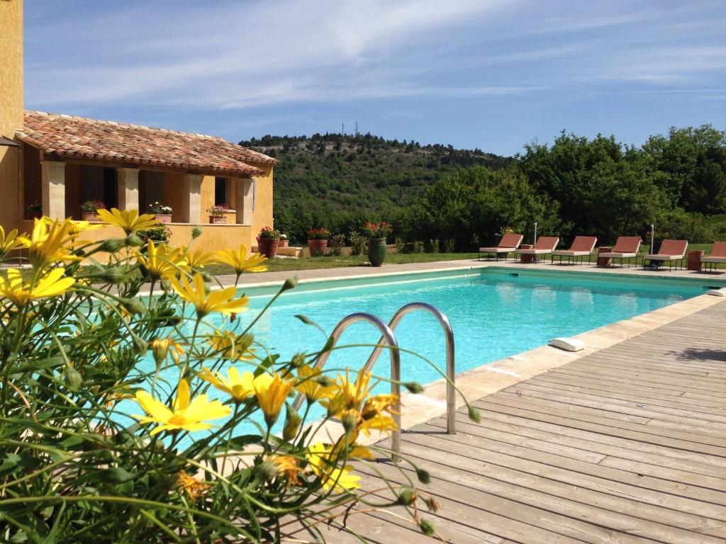 The swimming pool at or close to La Grande Bouisse