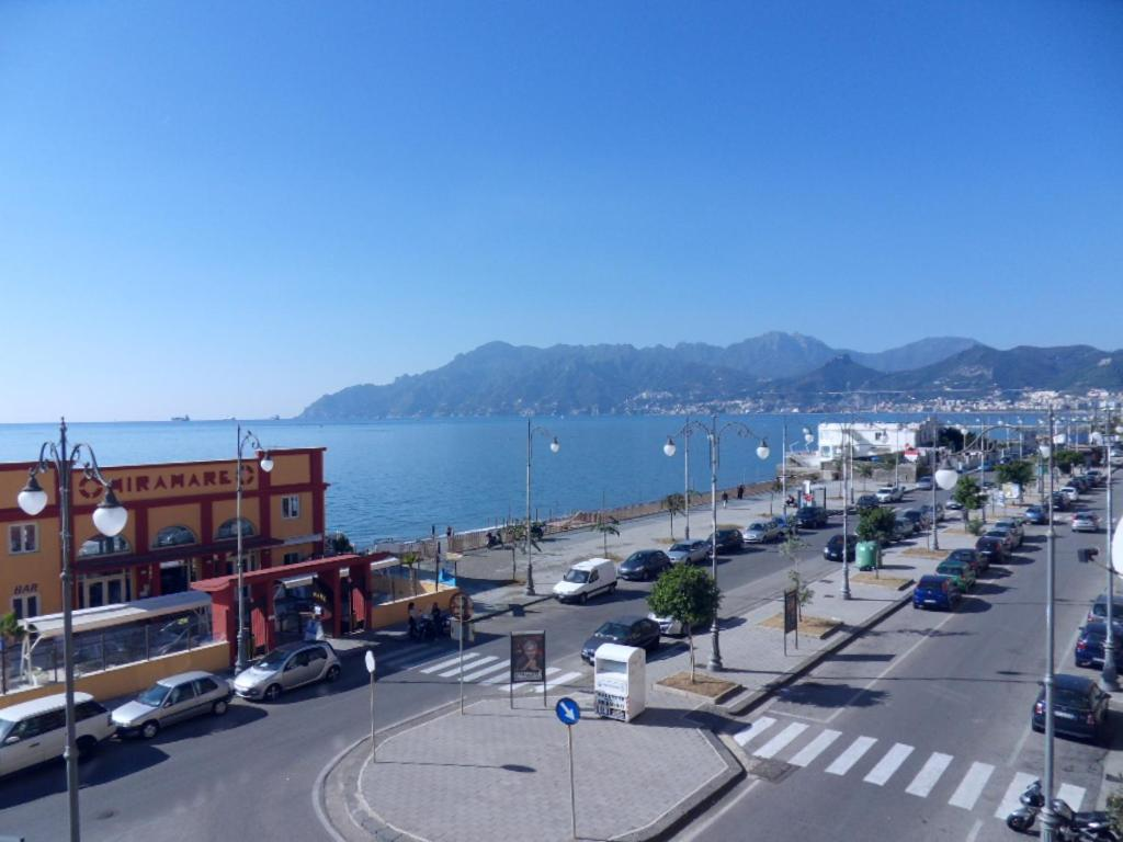 A general view of Salerno or a view of the city taken from the apartment