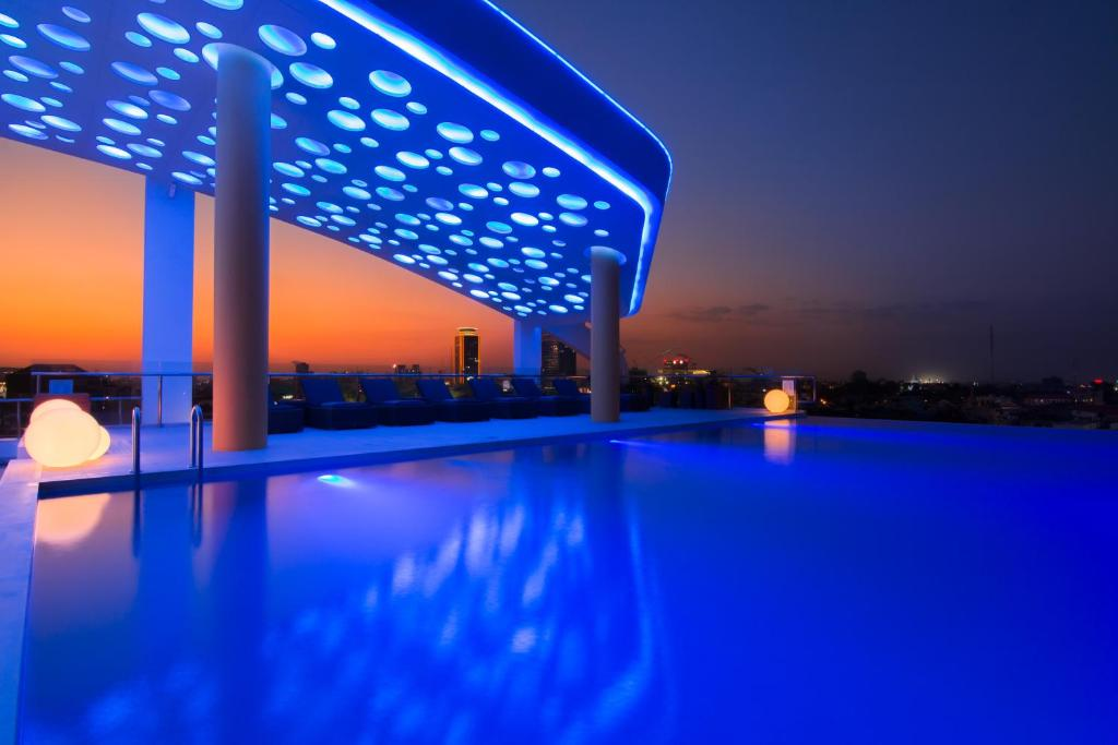 The swimming pool at or near SUN & MOON, Urban Hotel