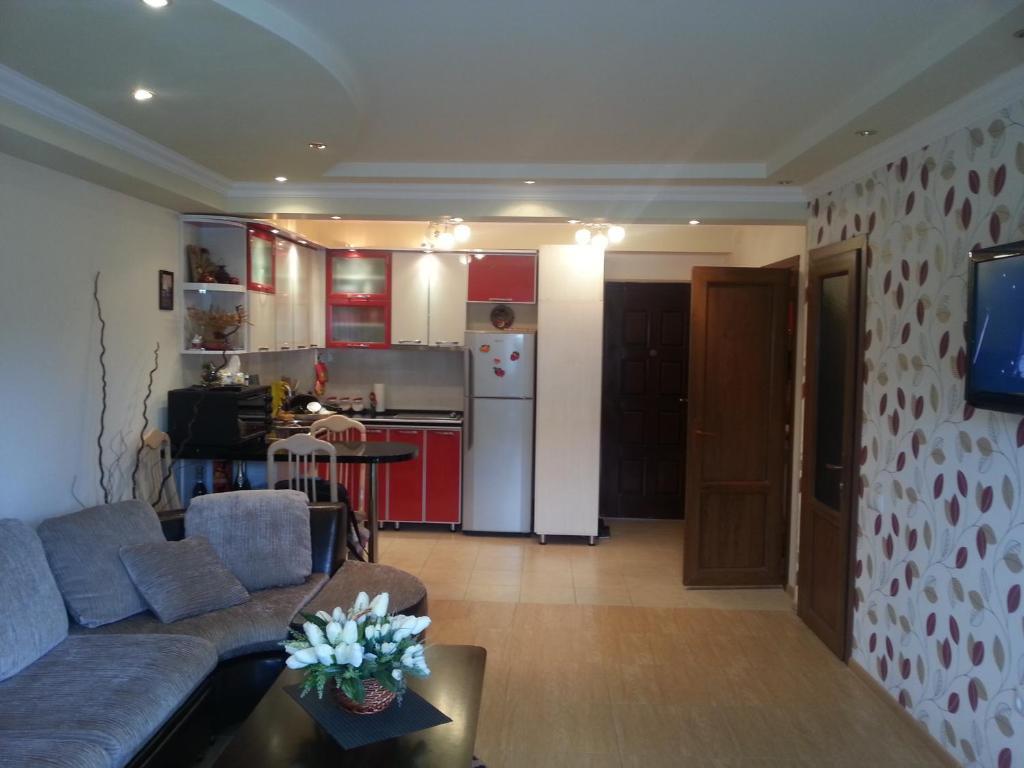 Кухня или мини-кухня в Apartments Mori Plaza
