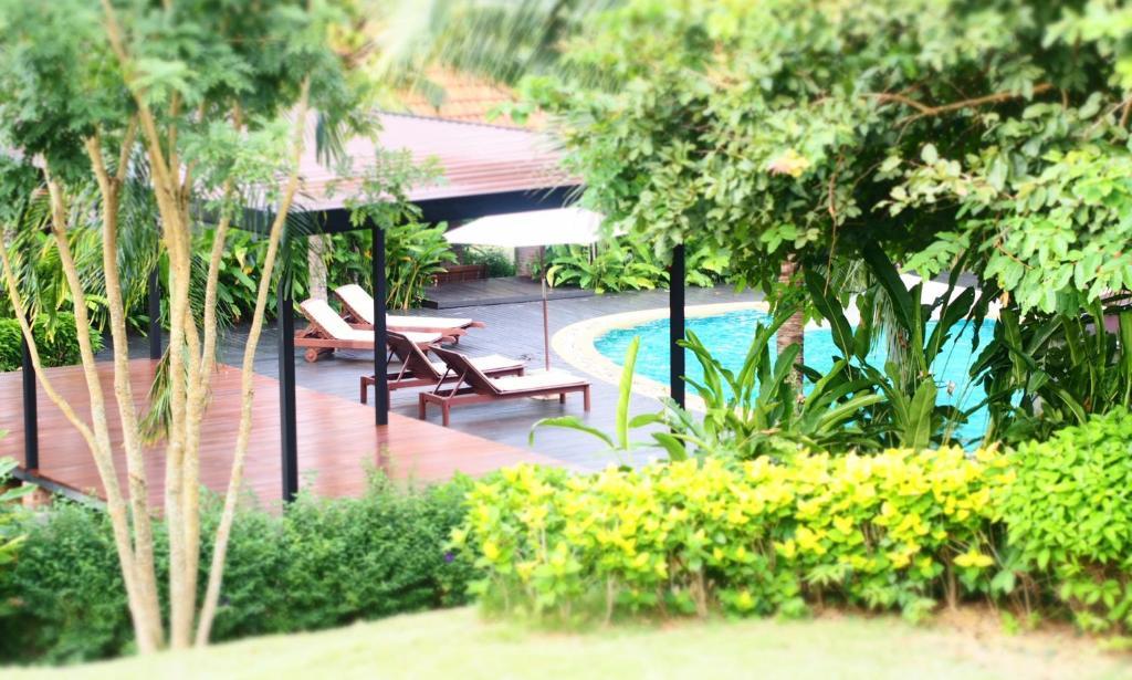The swimming pool at or near Tropicana Lanta Resort