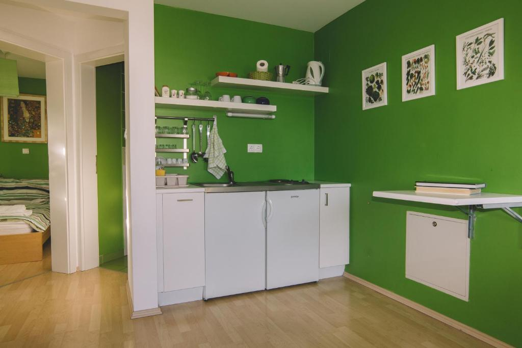 A kitchen or kitchenette at Apartments Sasha