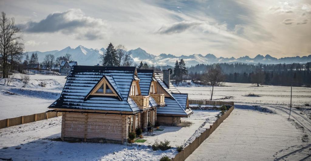 Obiekt TatryTop Domki nad Białką zimą