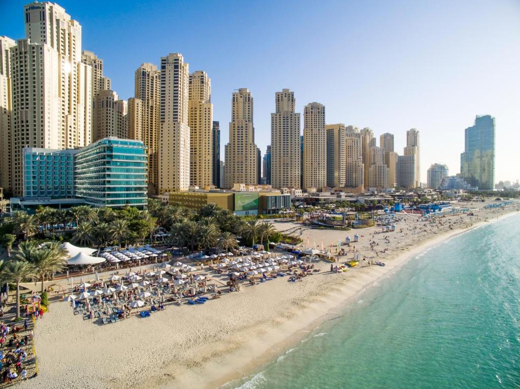 A bird's-eye view of Hilton Dubai Jumeirah