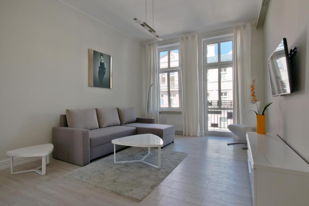 Część wypoczynkowa w obiekcie Imperial Apartments - Cassino