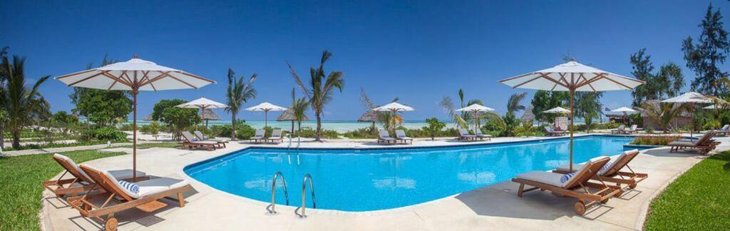The swimming pool at or near Kisiwa on the Beach