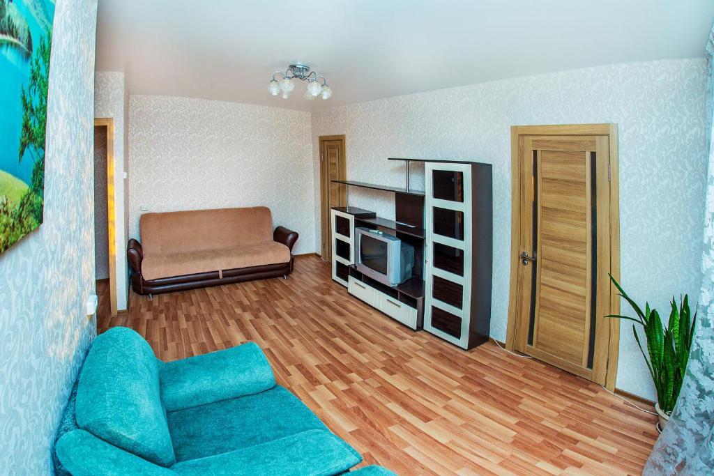 Гостиная зона в NSK-Kvartirka, Apartment Marksa 19