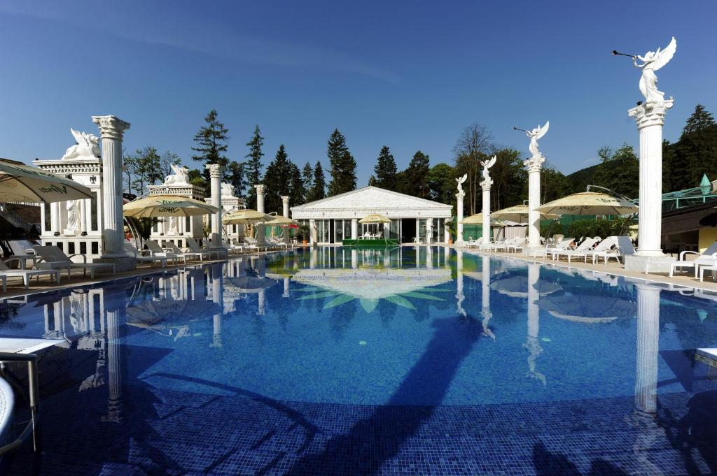 The swimming pool at or near Aphrodite Palace