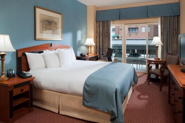 A room at the Inn at the Colonnade Baltimore.