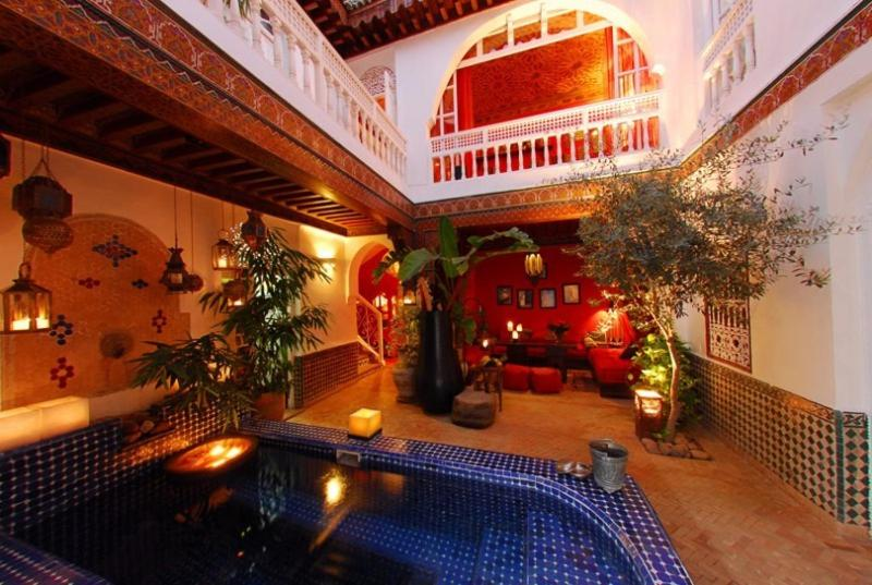The swimming pool at or near Riad La Terrasse Des Oliviers