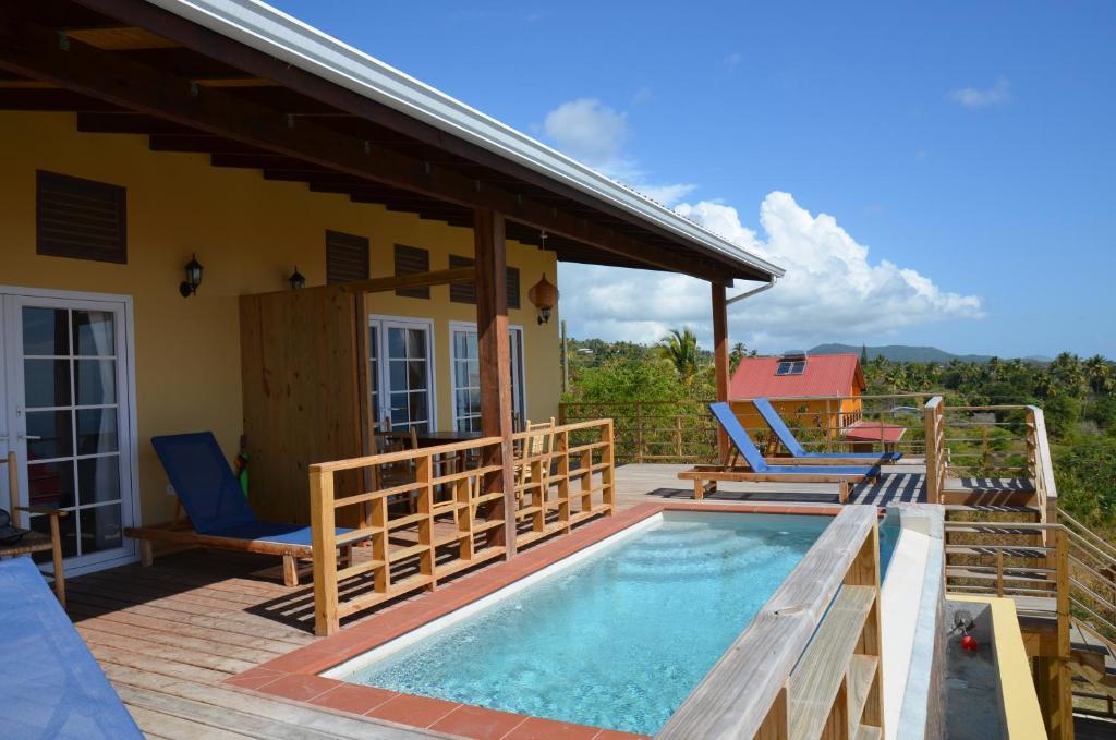 The swimming pool at or near Kaye Coco