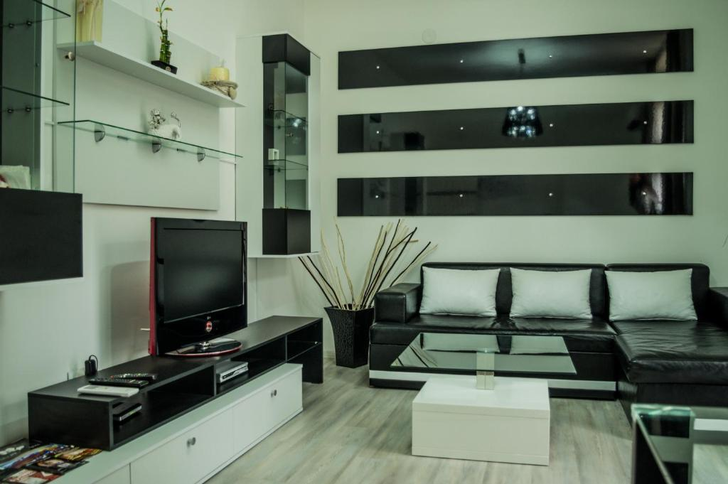 A television and/or entertainment center at Samuil Apartment