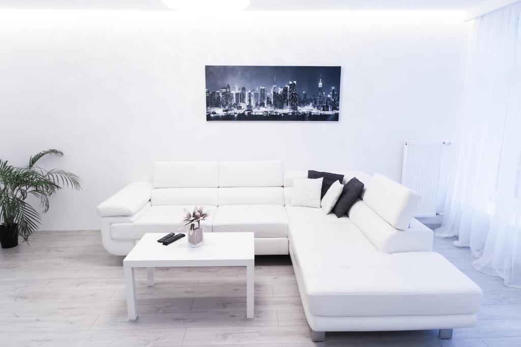 Część wypoczynkowa w obiekcie Apartament na Starówce Ogarna
