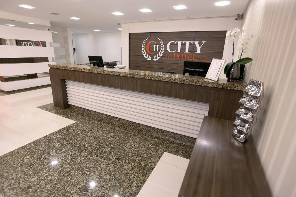 The lobby or reception area at City Hotel