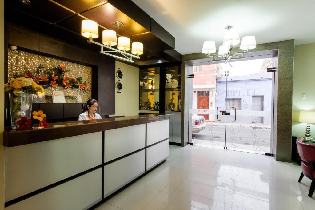 The lobby or reception area at El Principe Hoteles