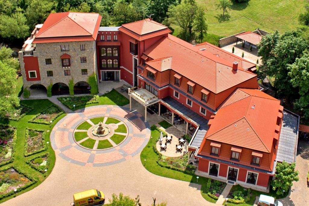 Hotel sv. Ludmila с высоты птичьего полета