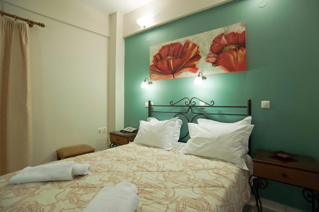Un ou plusieurs lits dans un hébergement de l'établissement Pitho